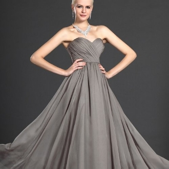 gray evening gown by svetlana on we heart it