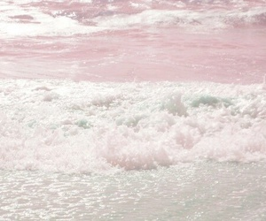 pink, sea, and ocean image