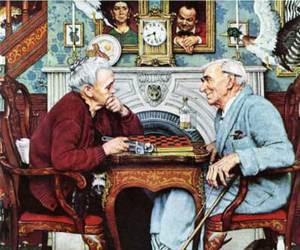 chess, quirky, and elderly couple image
