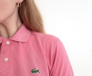 girl, lacoste, and pink image