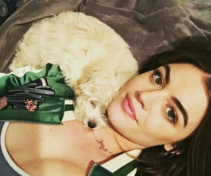 lucy hale, dog, and Lucy image