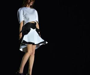 black&white, fashion, and model image