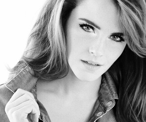black and white, emma watson, and Queen image