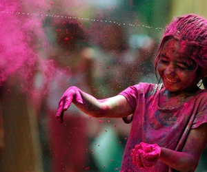 girl, pink, and colors image