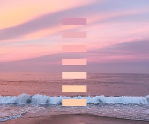 colors, pink, and sea image