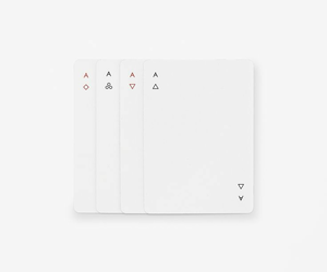 aces, cards, and minimal image