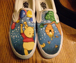 vans, shoes, and pooh image