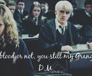 dramione, hp4, and mudblood image