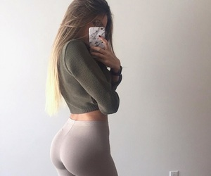 ass, hair, and selfie image