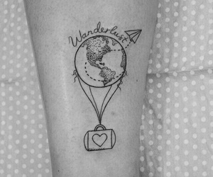 tattoo, travel, and trip image