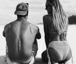 black and white, cool, and couple image