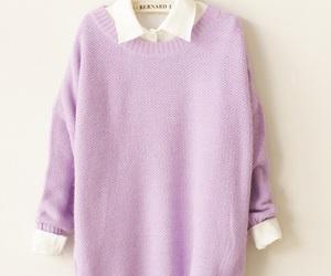 fashion, purple, and sweater image