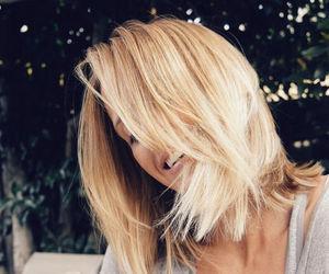 blonde, hair, and smile image