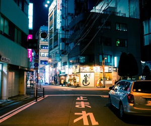 japan, night, and street image
