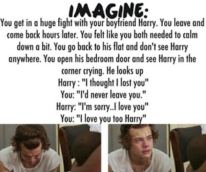 one direction imagine, imagine harry styles, and harry styles imagine image