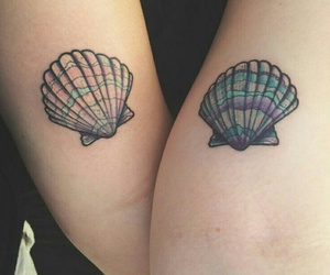 tattoo, shell, and art image