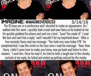 one direction imagine, harry styles imagine, and 1d imagine image