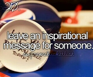 bucket list and message image