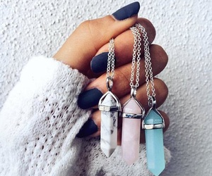 nails, necklace, and crystal image