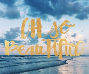 beach, text, and beautiful image