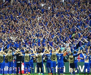 football, fans, and iceland image