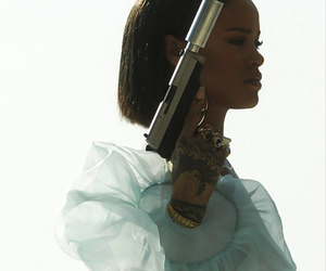 rihanna, gun, and needed me image