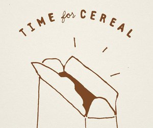 cereal, drawing, and grafic image