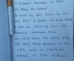 cigarette, sad, and quotes image