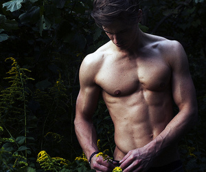 guy, nature, and body sexy man image