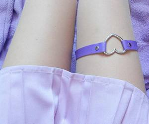 pastel, purple, and heart garter image