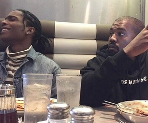 asap rocky, kanye west, and rap image