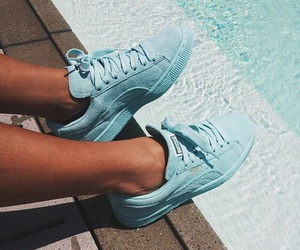 shoes, blue, and puma image