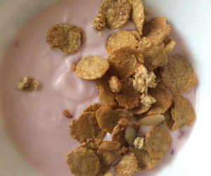 almond, breakfast, and Special K image