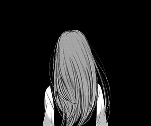 anime, black and white, and drawing image