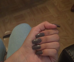 gray, nails, and purple image