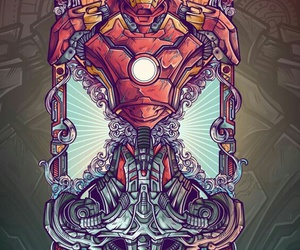 Marvel, ultron, and iron man image