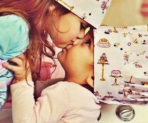 kids, kiss, and baby image