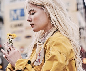 halsey, yellow, and flowers image