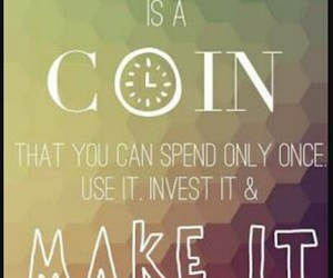 quotes, time, and coin image