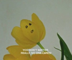 flowers, grunge, and no one cares image