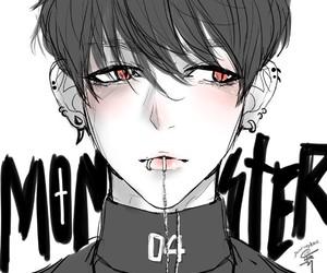 exo, monster, and baekhyun image
