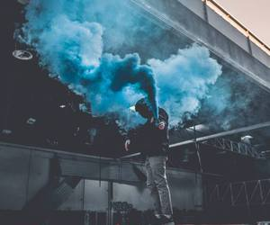 smoke, blue, and indie image