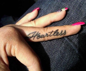 tattoo, heartless, and nails image