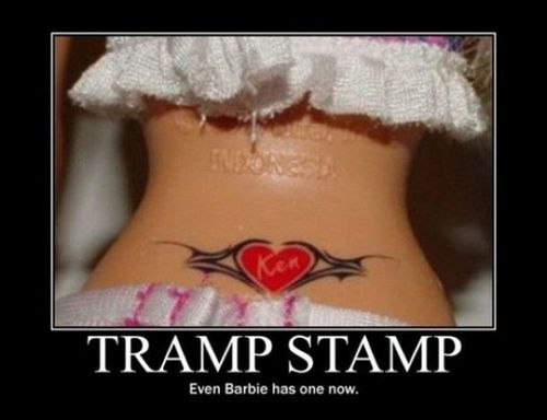 3ae0c36ee04dd Humor / Tramp Stamp on a Barbie, Wow... on imgfave