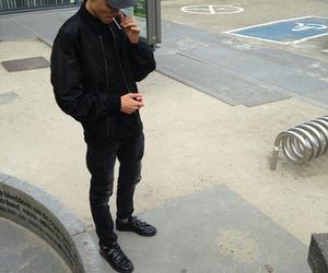 boy, black, and style image