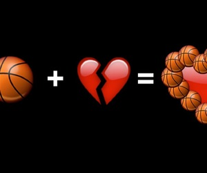 ball, Basketball, and broken heart image