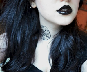 beautiful, black, and gothic image