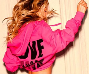girl, pink, and blonde image