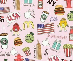 usa, apple, and background image