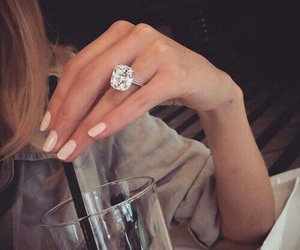 diamonds, ring, and fashion image